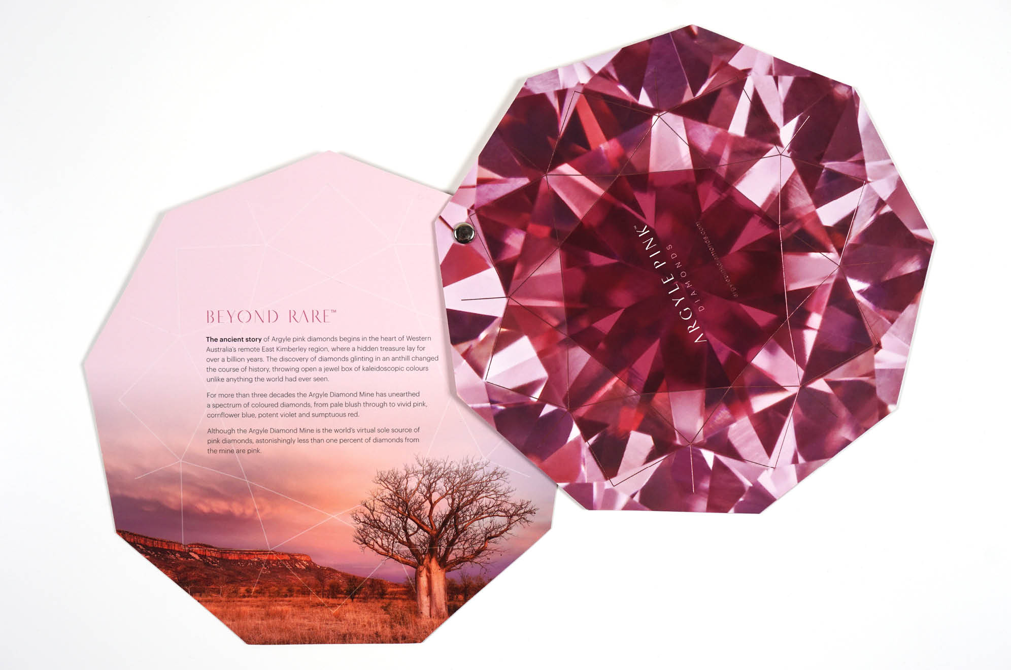 Argyle Diamonds Pink Branding Example